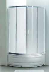 "EGER TISZA MELY душевая кабина 90*90*200 см, на глубоком поддоне, профиль белый, стекло ""Zuzmara"" 599-187"