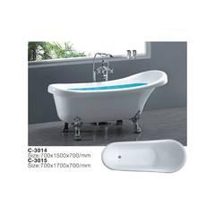 Акриловая ванна на львиных лапах С-3015